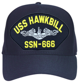 USS Hawkbill SSN-666 ( Silver Dolphins ) Submarine Custom Embroidered Enlisted Cap