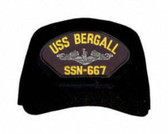 USS Bergall SSN-667 ( Silver Dolphins ) Submarine Enlisted Embroidered Cap