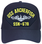 USS Archerfish SSN-678 ( Silver Dolphins ) Submarine Enlisted Embroidered Cap