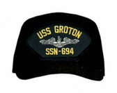 USS Groton SSN-694 ( Silver Dolphins ) Submarine Custom Embroidered Enlisted Cap
