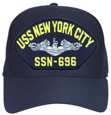 USS New York City SSN-696 ( Silver Dolphins ) Submarine Enlisted Cap