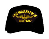 USS Indianapolis SSN-697 ( Gold Dolphins ) Submarine Officers Direct Embroidered Cap