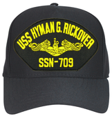 USS Hyman G. Rickover SSN-709 ( Gold Dolphins ) Submarine Officers Cap