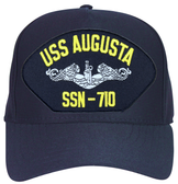 USS Augusta SSN-710 ( Silver Dolphins ) Custom Embroidered Submarine Enlisted Cap
