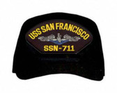 USS San Francisco SSN-711 Blue Water ( Silver Dolphins ) Submarine Enlisted Direct Embroidered Cap