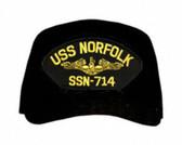 USS Norfolk SS-714 ( Gold Dolphins ) Submarine Officer Cap