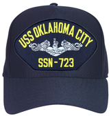 USS Oklahoma City SSN-723 (Silver Dolphins) Submarine Enlisted Custom Embroidered Cap