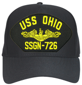 USS Ohio SSBN-726 ( Gold Dolphins ) Custom Embroidered Submarine Officer Cap