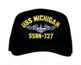 USS Michigan SSBN-727 ( Silver Dolphins ) Submarine Enlisted Cap