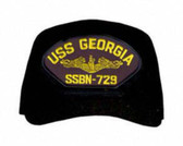 USS Georgia SSBN-729 ( Gold Dolphins ) Submarine Officers Cap