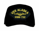 USS Alaska SSBN-732 ( Gold Dolphins ) Submarine Officers Custom Embroidered Cap