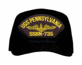 USS Pennsylvania SSBN-735 ( Gold Dolphins ) Submarine Officer Cap