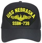 USS Nebraska SSBN-739 ( Gold Dolphins ) Submarine Officer Cap