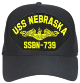 USS Nebraska SSBN-739 ( Gold Dolphins ) Submarine Officer Direct Embroidered Cap