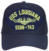 USS Louisiana SSBN-743 ( Gold Dolphins ) Submarine Officers Cap