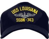 USS Louisiana SSBN-743 ( Silver Dolphins ) Submarine Enlisted Cap