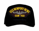 USS Newport News SSN-750 ( Silver Dolphins ) Submarine Enlisted Cap