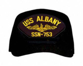 USS Albany SSN-753 ( Gold Dolphins ) Submarine Officers Direct Embroidered Cap