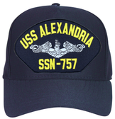 USS Alexandria SSN-757 ( Silver Dolphins ) Submarine Enlisted Direct Embroidered Cap