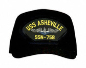 USS Asheville SSN-758 'Blue Water' ( Silver Dolphins ) Submarine Enlisted Cap