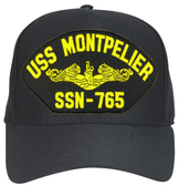USS Montpelier SSN-765 ( Gold Dolphins ) Submarine Officer Cap