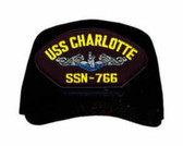 USS Charlotte SSN-766 Blue Water ( Silver Dolphins ) Submarine Enlisted Cap