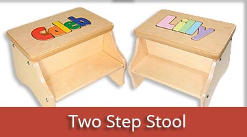 toddler step stool personalized step stool wooden name puzzle
