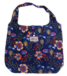 * Floral design * Bag can be folded and sits inside smaller bag * Waterproof material 100% Terylene * Hold up to 10kgs of weight * Snap fastener with strap * Justice Bags branding  Use me as: Shopping bag Lunch bag  This item's measurements are: Depth: 15cm Height: 34cm Width: 42cm