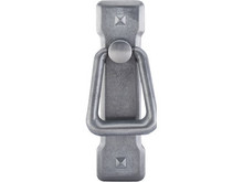 "3 13/16"" Mission Ring Pull with Backplate - Pewter Light TKM238"