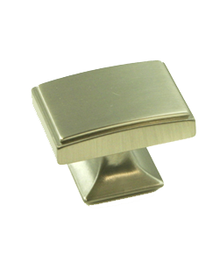 "Knob 1-9/16x1-1/8"" Brushed Nickel BE4083-1BPN-P (BE4083-1BPN-P)"