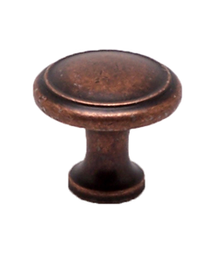 "Knob W/Ring 1-1/8"" Weathered Copper BE9925-1WC-P (BE9925-1WC-P)"