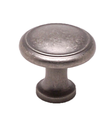 "Knob W/Ring 1-1/8"" Weathered Nickel BE9927-1WN-P (BE9927-1WN-P)"