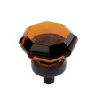 """1"""" Knob Classics (55266) (AM55266)Amber with Oil Rubbed Bronze Base"""