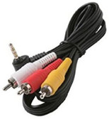 6-Feet 3.5mm Plug to 3-RCA Plug Camcorder Patch Cord