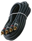 12-Feet 2-RCA Stereo Audio Cable, Black
