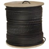 RG6 / UL 18 AWG 1000-Feet Coaxial Bulk Cable, Black