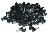 RG6 Cable Clip, 100 Pieces Per Bag, Black