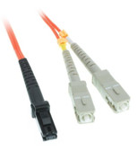 MTRJ/SC 2-Meters Multimode Duplex Fiber Optic Cable 62.5/125, (CNE73514)