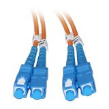 SC/SC 15-Meters Multimode Duplex Fiber Optic Cable 62.5/125
