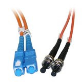 SC/ST 1-Meter Multimode Duplex Fiber Optic Cable 62.5/125