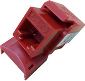 CAT5E Keystone Jack - Red (CNE75716)