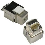 Shielded Cat6a Keystone Jack RJ45 STP Female to 110 Punch Down