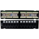 10-Feet Horizontal 110 Type 12 Port CAT-5 E Patch Panel Cable