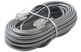 6C Telephone Line Cord, Silver