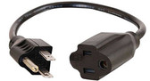 1-Feet Outlet Saver Power Extension Cord NEMA 5-15R TO NEMA 5-15P
