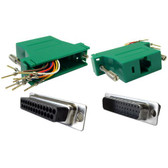 Modular Adapter DB25 Male to RJ45, Green (CNE26610)