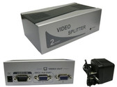 250MHz VGA Video Splitter 1 PC to 2 Monitors