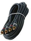 25-Feet 2-RCA Stereo Audio Cable, Black