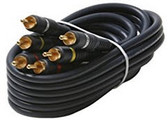 25-Feet 3-RCA Audio/Video Cable, Black