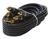 50-Feet 3-RCA Audio/Video Cable, Black